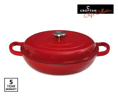 Crofton french pot $27 in red compared to Le Creuset stew pot for $400