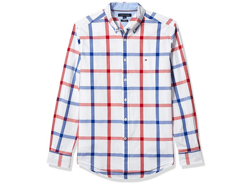 Tommy Hilfiger Men's Long Sleeve Stretch Button Down Shirt