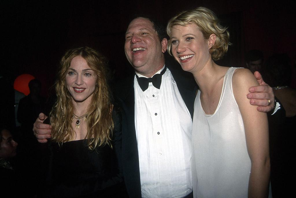 <p>Remember when Madge and Gwyneth were besties? They posed with Weinstein at the 1998 bash, ahead of Paltrow's breakthrough role in <em>Shakespeare in Love</em>. (Photo: Patrick McMullan/Patrick McMullan via Getty Images) </p>