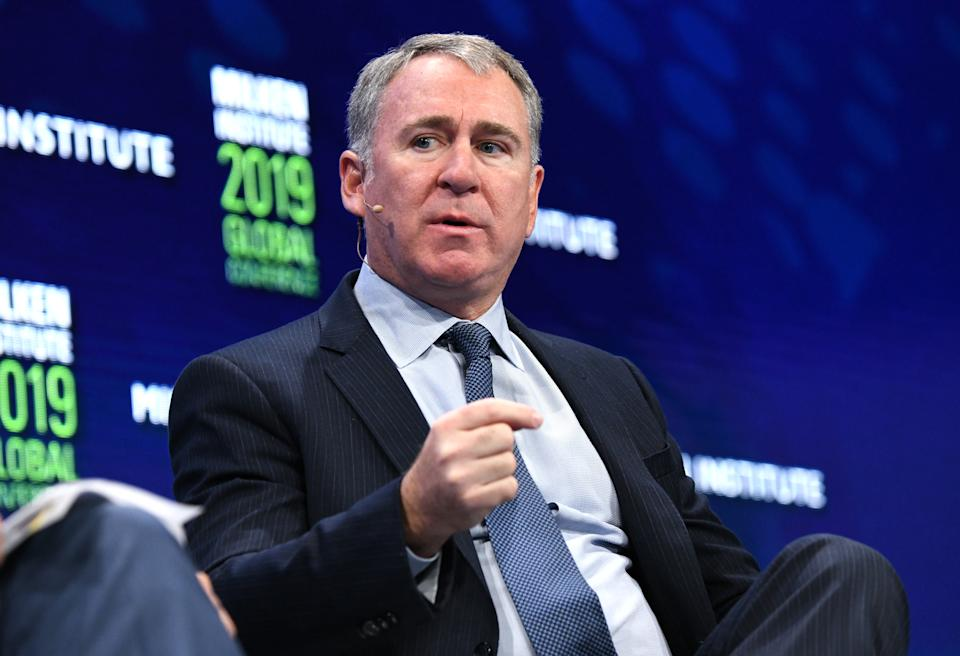 BEVERLY HILLS, CALIFORNIA - APRIL 29: Ken Griffin participates in a panel discussion during the annual Milken Institute Global Conference at The Beverly Hilton Hotel  on April 29, 2019 in Beverly Hills, California. (Photo by Michael Kovac/Getty Images)