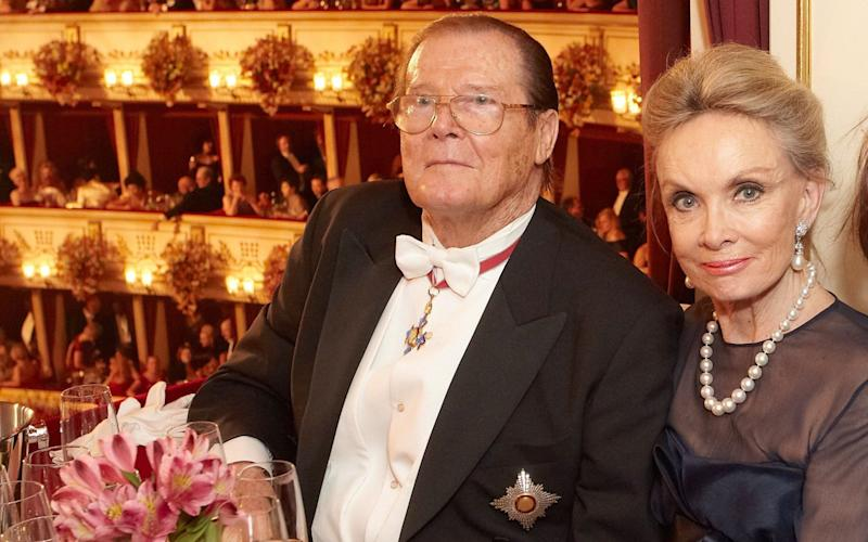 Roger Moore with his fourth wife, Kristina Tholstrup - Credit:  Action Press / Rex Features