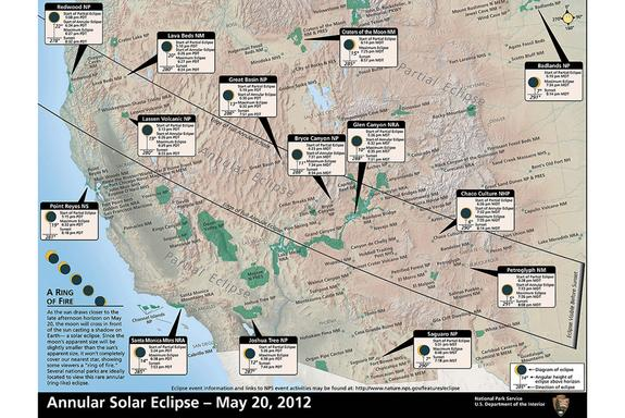 Thirty-three national parks, including the Grand Canyon, are positioned to observe the full annular eclipse this Sunday.
