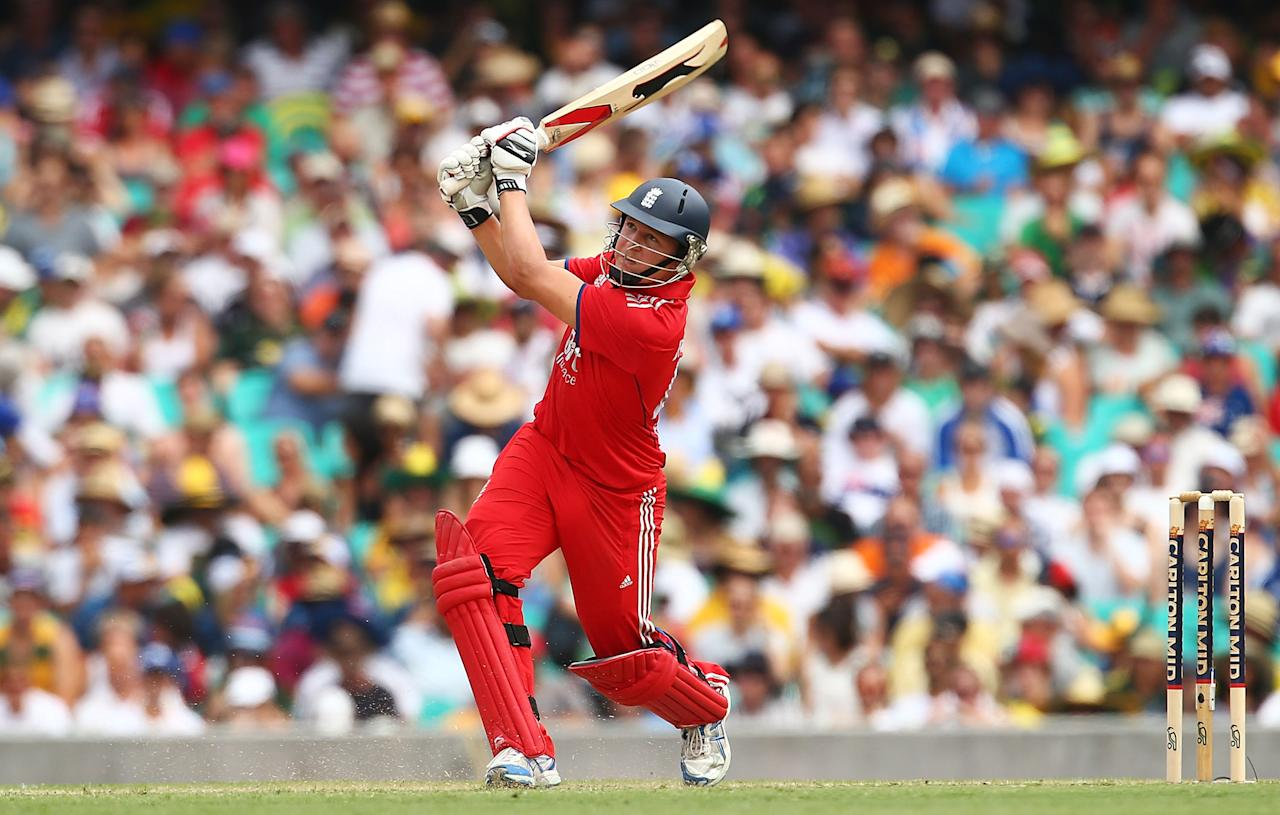 SYDNEY, AUSTRALIA - JANUARY 19: Gary Ballance of England bats during game three of the One Day International Series between Australia and England at Sydney Cricket Ground on January 19, 2014 in Sydney, Australia.  (Photo by Mark Nolan/Getty Images)
