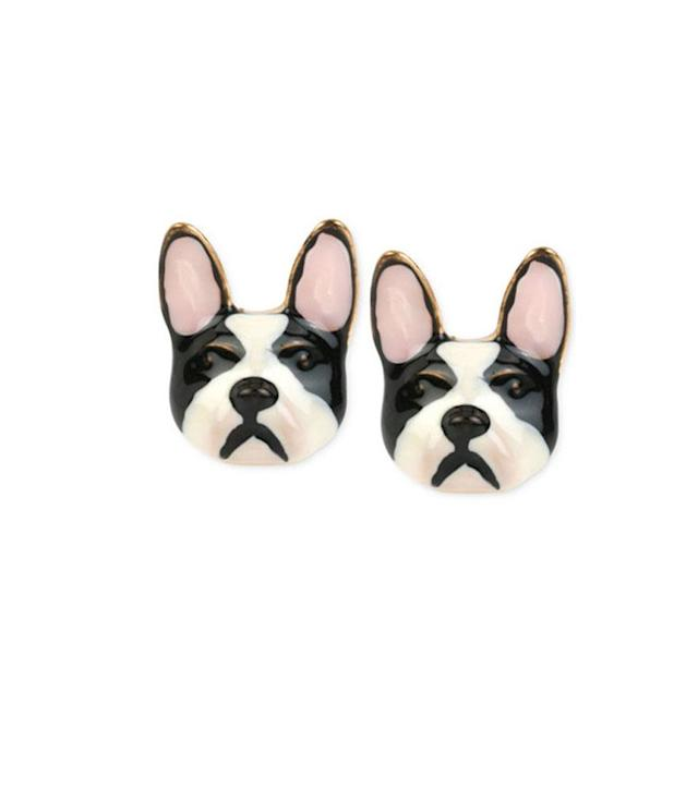 "<p>Gold Tone Bulldog Earrings, $25, <a href=""https://www.macys.com/shop/product/betsey-johnson-gold-tone-bulldog-earrings?ID=2309140&CategoryID=55285&RVI=Search_1&tdp=cm_choiceId~z2309140~xcm_pos~zPos1"" rel=""nofollow noopener"" target=""_blank"" data-ylk=""slk:macys.com"" class=""link rapid-noclick-resp"">macys.com</a> </p>"