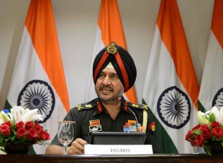 Indian army's director general of military operations Lt General Ranbir Singh speaks during a media briefing in New Delhi, India, September 29, 2016. REUTERS/Stringer