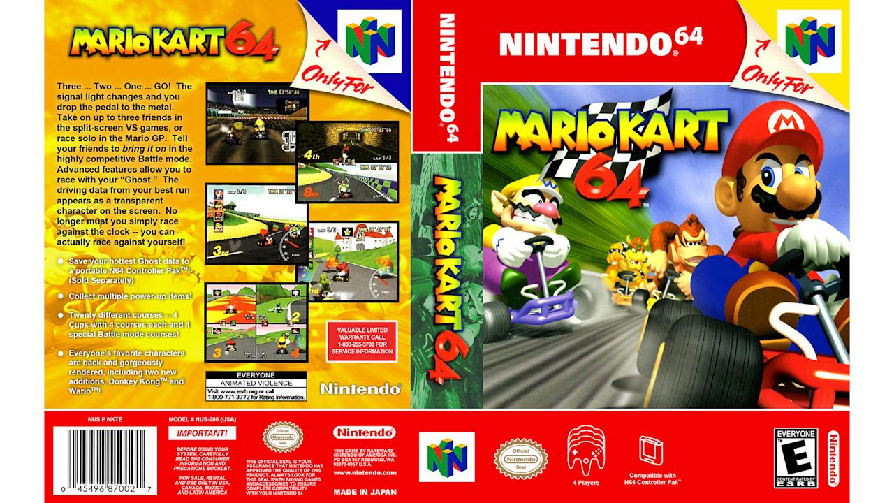 """<p>Mario Kart 8 has the more modern gameplay experience, which includes more characters, better graphics (they are absolutely stunning), and more courses to race on, but there's no replacement for the nostalgia-soaked fun of the original 3D kart racer. This game had serious staying power. From hours spent in battle mode during childhood sleepovers to Beer-io Kart in college (please drink and game responsibly) I am still not sick of this game.</p> <p>I should point out that my pick is as much about the console as it is the game. The N64 is, in my opinion, the quintessential console for arcade-style multiplayer gaming — Wayne Gretzky 3D hockey needs to be mentioned at this point as the first-ever four-player game for the N64.</p> <p>I give Mario Kart 64 top marks in fun factor, graphics, controls, accessibility, and sound. Grand Prix mode is good, and much better than the Super Nintendo original, but where this game really shines is multiplayer mode. I think it's still one of the best examples out there. In my house it was a multi-generational hit. The same cannot be said for games like <a href=""""https://amzn.to/2NoOAEU"""">Super Smash Bros.</a>, any <a href=""""https://amzn.to/2C8yV7v"""">Madden</a> game, or even <a href=""""https://amzn.to/34kmuBd"""">Mario Kart 8</a>, all of which come with steeper learning curves. Mario Kart 64 (and to a larger extend the N64 itself) is the epitome of in-home arcade-style gaming.</p> <p>Also important to note, Diddy Kong Racing, which game along in 1997, is also on my must-buy list, but my Karting fix had been met by the time it hit shelves and there was no displacing Mario from the top spot in my heart. Plus, I was on to playing Goldeneye by then. <strong>— Video Production Manager Eddie Sabatini</strong></p>"""