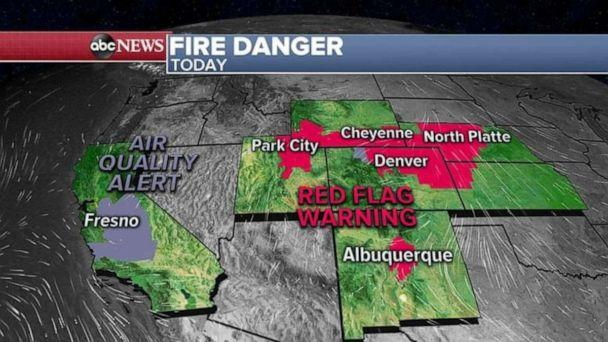 PHOTO: An Air Quality Alert has been issued for a large part of California due to all the smoke from the wildfires affecting air quality. (ABC News)