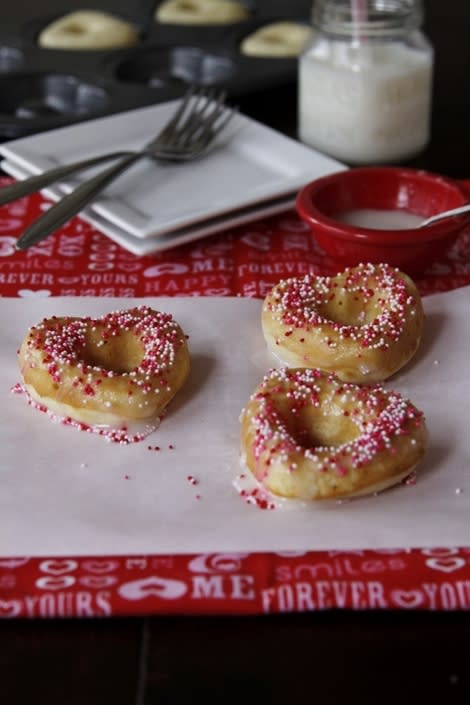 Baked Heart Donuts