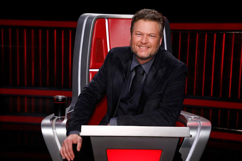 """Shelton pictured as a coach on """"The Voice."""" (Photo: NBC via Getty Images)"""
