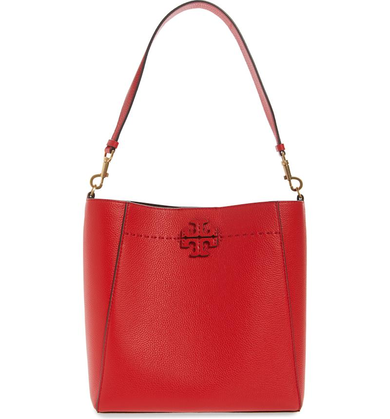 Tory Burch McGraw Leather Hobo. Image via Nordstrom.
