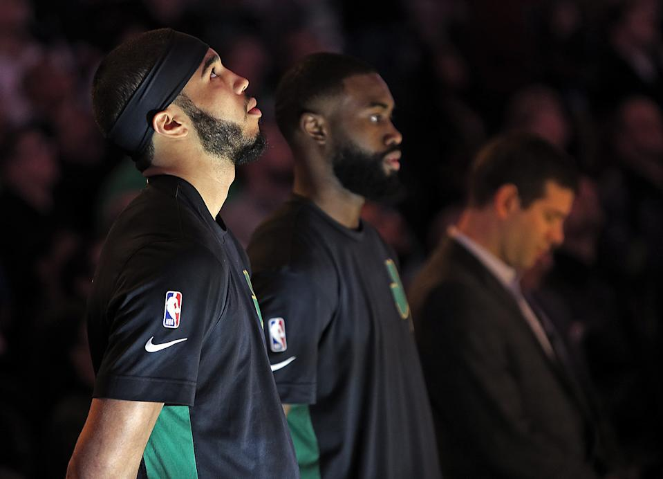 Jayson Tatum and Jaylen Brown are among the best young duos in the NBA. (Matt Stone/MediaNews Group/Boston Herald)
