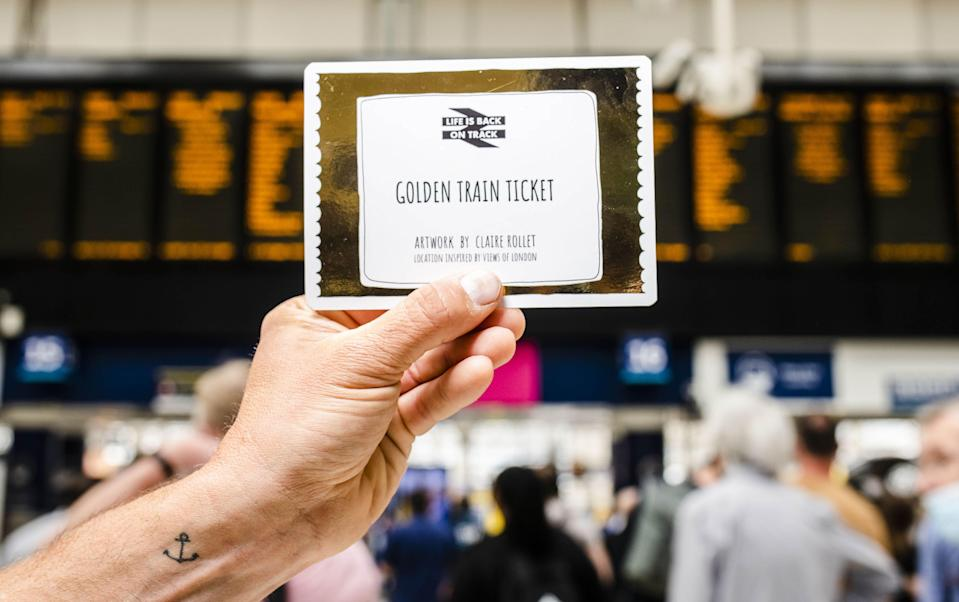 A Golden Train Ticket (PA Wire)