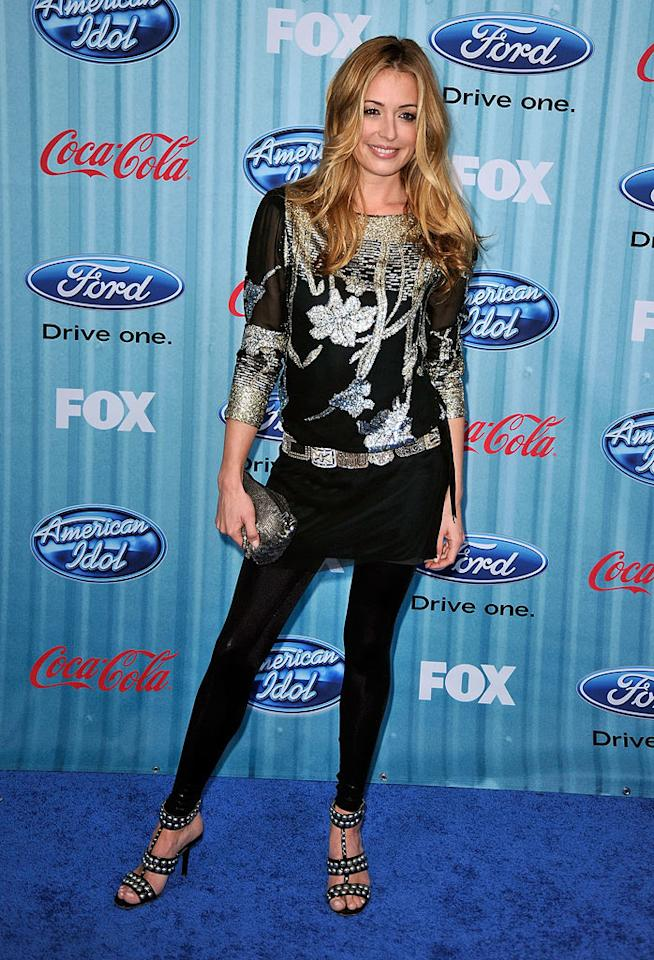 """<a href=""""/so-you-think-you-can-dance/show/36160"""">""""So You Think You Can Dance""""</a> host <a href=""""/cat-deeley/contributor/2212390"""">Cat Deeley</a> arrives at the <a href=""""/american-idol/show/34934"""">""""American Idol""""</a> Top 13 Party held at AREA nightclub on March 5, 2009 in Los Angeles, California."""