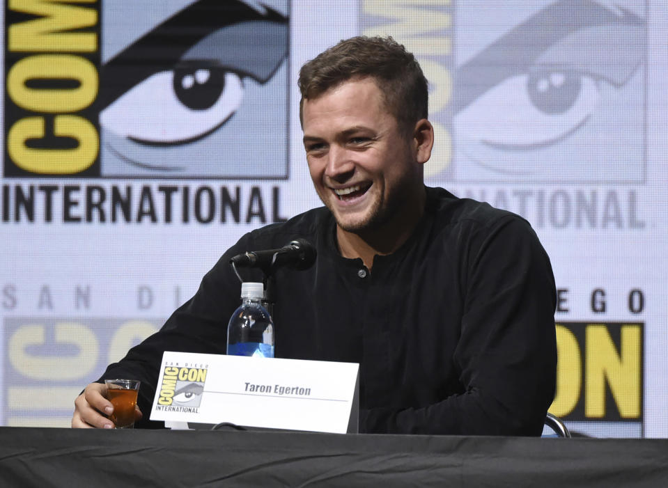 Taron Egerton attends the 20th Century Fox panel on day 1 of Comic-Con International on Thursday, July 20, 2017, in San Diego. (Photo by Richard Shotwell/Invision/AP)