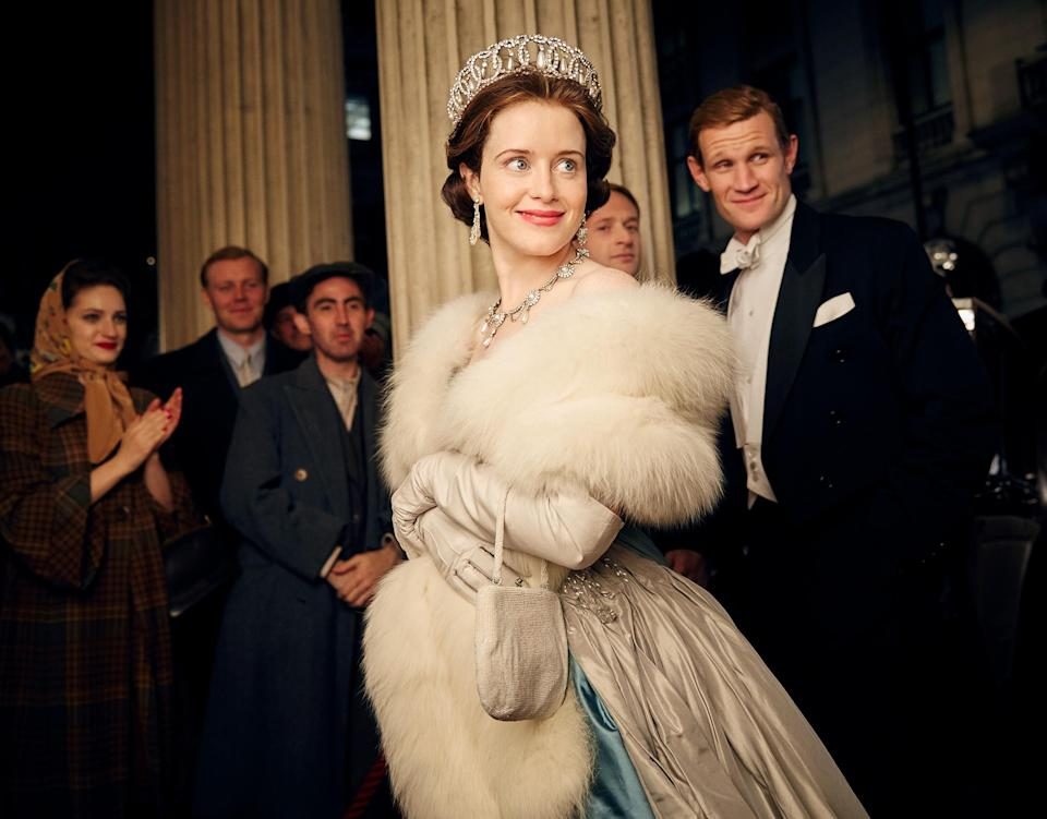Foy and Smith in The Crown (Credit: Netflix)