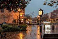 """<p>The small California town sits just outside of Sacramento and holds its annual <a href=""""http://www.seecalifornia.com/christmas/trees/winters-tree-lighting.html"""" rel=""""nofollow noopener"""" target=""""_blank"""" data-ylk=""""slk:Tractor Parade"""" class=""""link rapid-noclick-resp"""">Tractor Parade</a> in early December. Farmers decorate their tractors in holiday lights and drive them down Main Street. After the parade, the city's board of directors and Santa join together to light the town Christmas tree and kick off the holiday season in the most traditional way. </p>"""