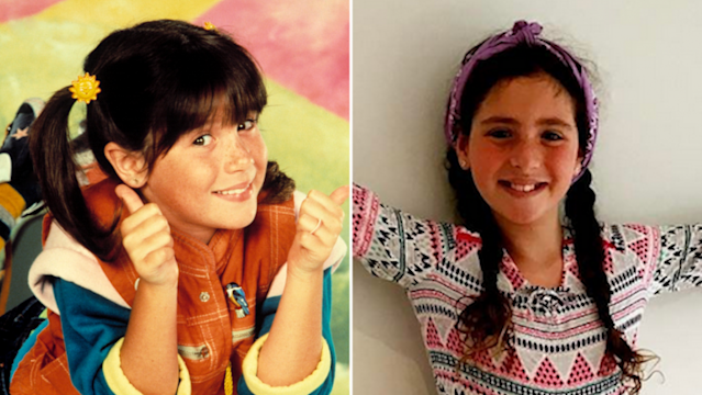 Soleil Moon Frye's 9-year-old daughter, Jagger (right), bears an uncanny resemblance to her mom as Punky Brewster (left).