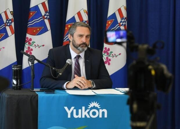 Premier Sandy Silver provides a COVID-19 update on Aug. 20, 2021. The Yukon government is ending its COVID-19 state of emergency, effective 11:59 p.m. Wednesday. (Jackie Hong/CBC - image credit)