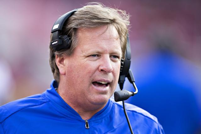 Jim McElwain undoubtedly thinks the internet is a really weird place. (Getty)