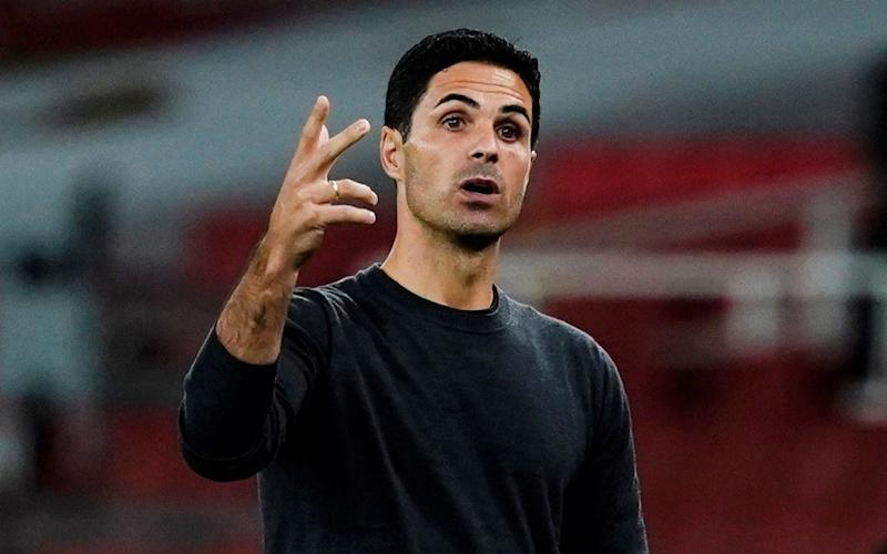 Arsenal manager Mikel Arteta on the sidelines at the Emirates - Reuters