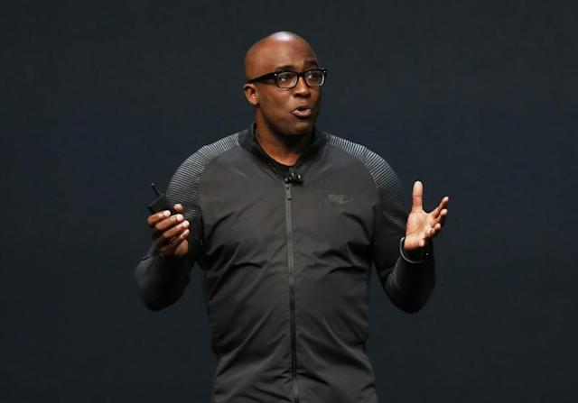 Trevor Edwards, President of Nike Brand, discusses the Apple Watch Series 2 with Nike+ during a media event in San Francisco, California, U.S. September 7, 2016. REUTERS/Beck Diefenbach