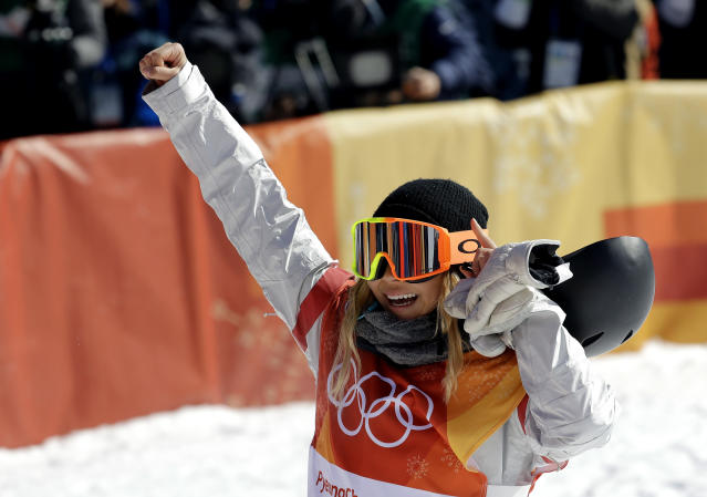 American Chloe Kim won the women's halfpipe gold medal on Monday night. A radio host got himself in trouble the next day after making sexually-suggestive comments about the 17-year-old. (AP)