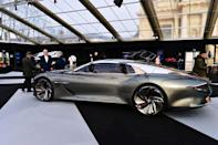 """<p>This electric concept car is stunning and was designed to explore """"how grand touring could look in 2035,"""" according to Bentley. The interior of the EXP 100 GT looks like a luxurious spaceship—to be honest, the whole car looks otherworldly—and is expected to deliver everything from autonomous driving to employing the use of AI to read your biometrics and adjust cabin temperature—all in addition to features like """"air curation"""" which brings in fragrances """"from the natural world while keeping city pollution out."""" Fancy.</p>"""
