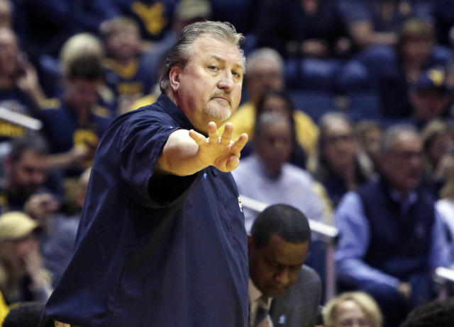 West Virginia head coach Bob Huggins was reprimanded by the Big 12 for comments about officials after his team lost to Kansas. (AP)