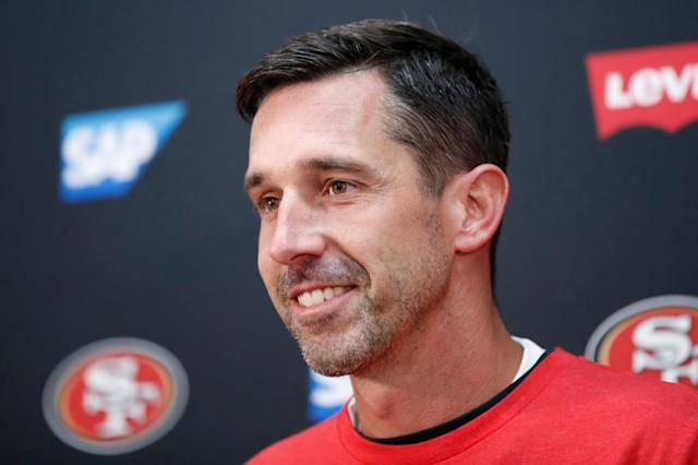 Kyle Shanahan savors Niners' win over Redskins, gives game ball to his father, Mike