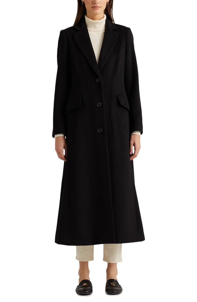 <p>You can't go wrong with this <span>Lauren Ralph Lauren Wool Blend Longline Coat</span> ($340). It's the coat worth wearing with everything from sweats to a cocktail dress.</p>