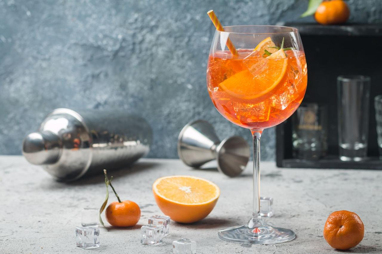 """<p><strong>Recipe: <a href=""""https://www.goodhousekeeping.com/uk/food/recipes/a25974093/aperol-spritz-recipe/"""" target=""""_blank"""">Aperol Spritz</a></strong></p>"""