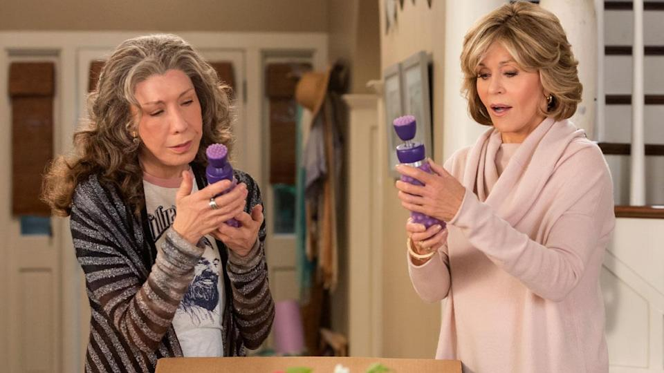 Much like the two 70-something female leads in Netflix's series 'Grace and Frankie', many women aren't ready – or able – to retire [Photo: Netflix]