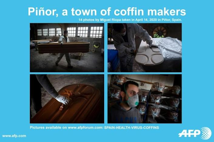 AFP presents a photo essay of 14 pictures by Miguel Riopa of the Yago Gonzalez coffin-making factory in Pinor, northwestern Spain (AFP Photo/Miguel RIOPA)