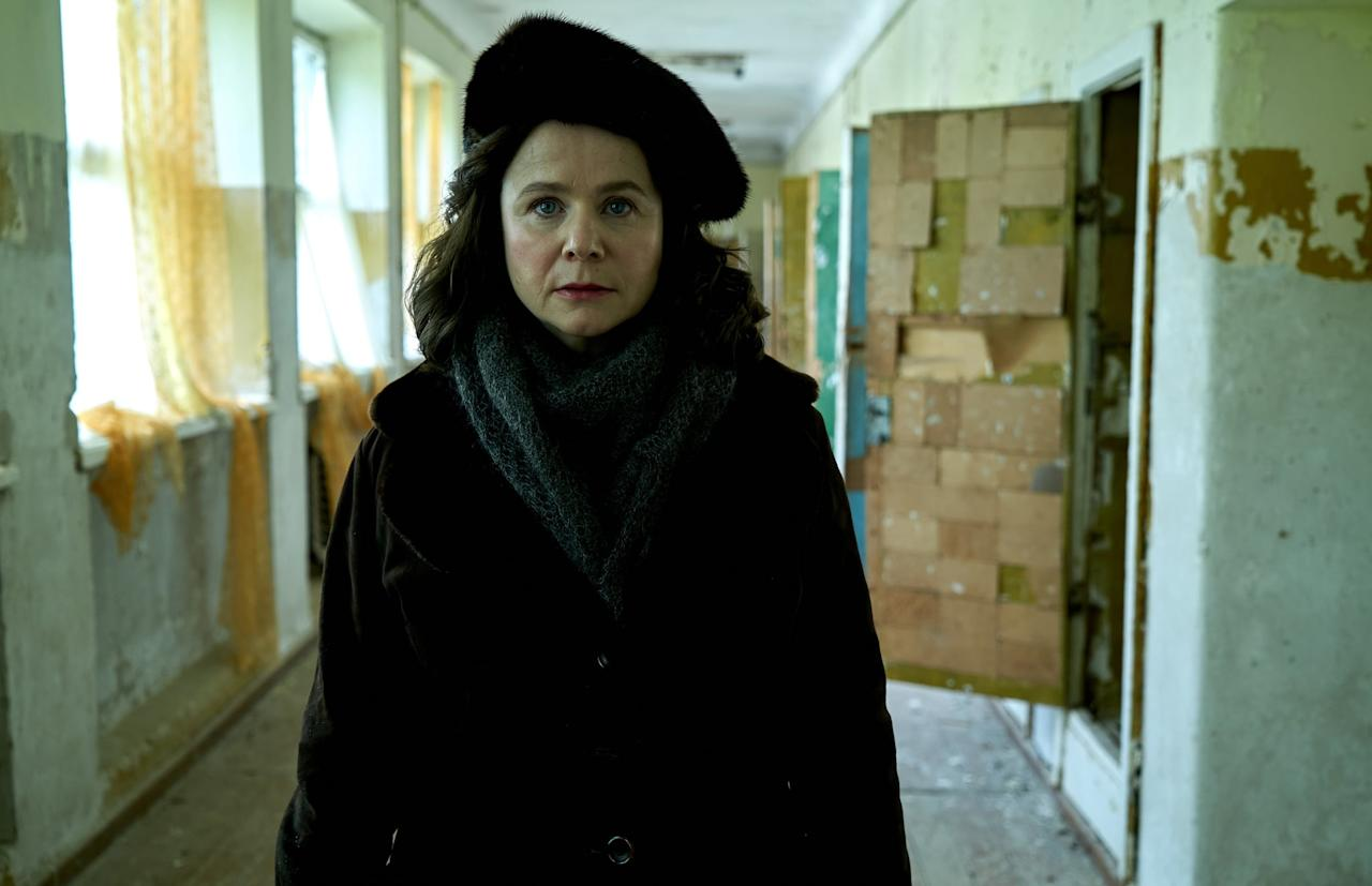 "<p>Emily Watson plays Ulyana Khomyuk, a Soviet nuclear physicist who's trying to get to the bottom of what happened at Chernobyl. According to <strong><a href=""http://www.pressreader.com/uk/the-daily-telegraph-telegraph-magazine/20190406/282183652422983"" target=""_blank"">The Daily Telegraph</a></strong>, this character is a ""fictional amalgam of Soviet scientists whose names we don't know, who risked their freedom and reputations to demand the truth be told.""</p>"