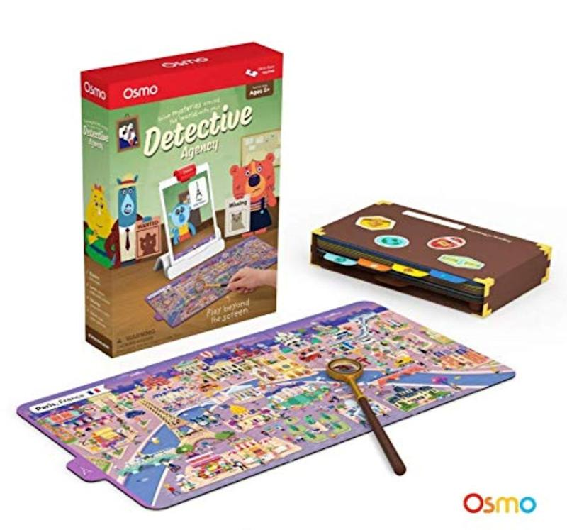 "Put on your detective hat and get ready to solve the case!&nbsp;<strong>Ages:</strong> 5+&nbsp;<strong>Get it at:</strong> <a href=""https://www.amazon.ca/Osmo-Detective-Agency-Base-Required/dp/B07GJ1XSGP/"" target=""_blank"" rel=""noopener noreferrer"">Amazon</a>, $55"