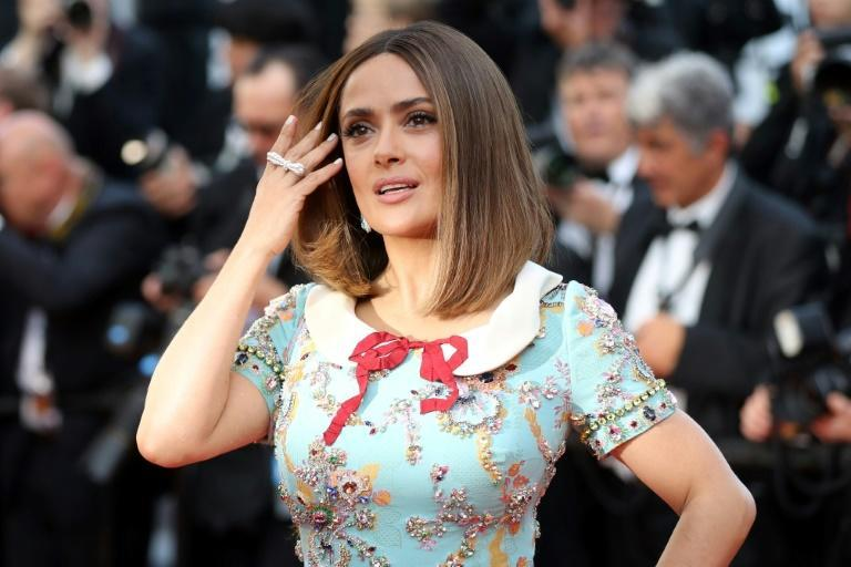"""Actress Salma Hayek, seen here last month at the Cannes Film Festival, is generating Oscar buzz for her turn in """"Beatriz at Dinner"""""""