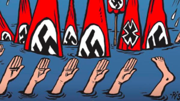 Charlie Hebdo's Harvey Cover Praises Drowning Of 'Neo-Nazis Of Texas'