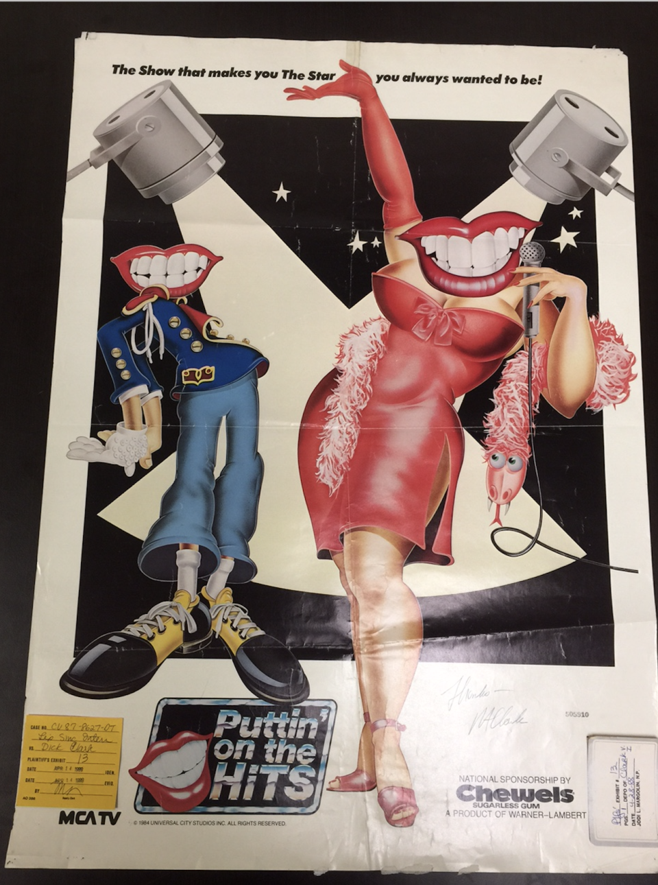 A 'Puttin' on the Hits' poster, signed by R.A. Clark, given to Wm. Randy Wood. (Photo: Wm. Randy Wood)