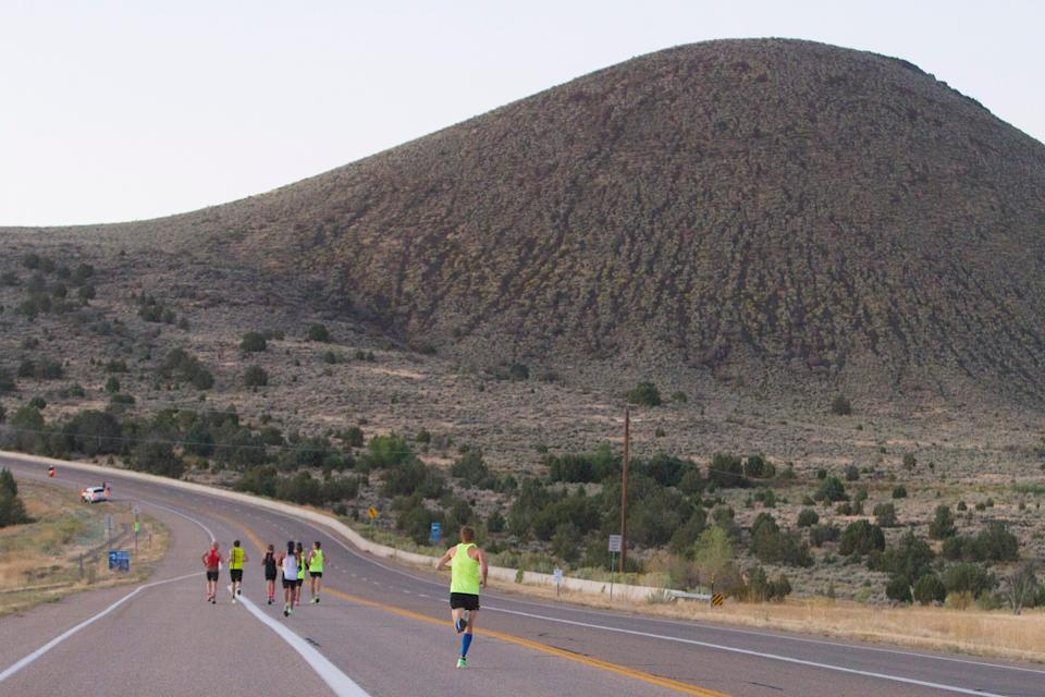Runners compete in the 2019 St. George Marathon. Last year's race was canceled by the coronavirus pandemic.