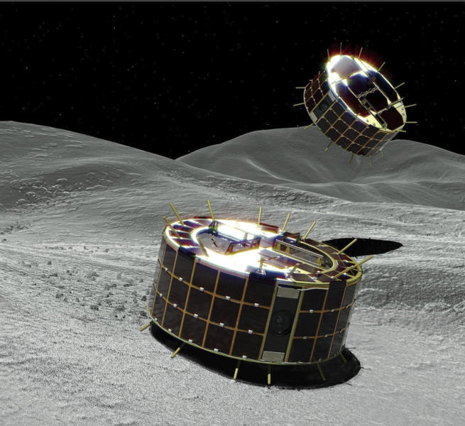 Two Hopping Robots are about to Land on Asteroid Ryugu