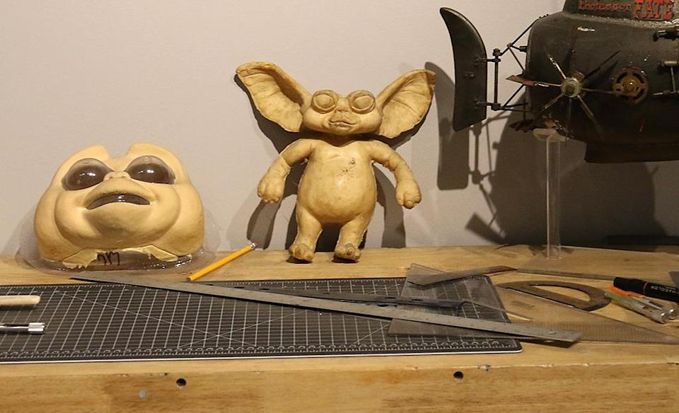 <p>A mold and face sculpt for the lovable lead creature in the horror-comedy. (Photo: Angela Kim/Yahoo) </p>