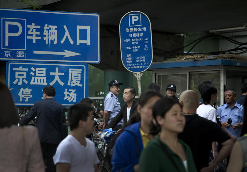 China police choke protest in unease over migrants