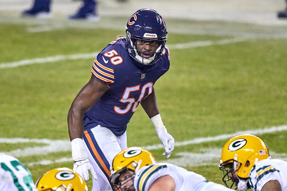 Barkevious Mingo with the Chicago Bears.