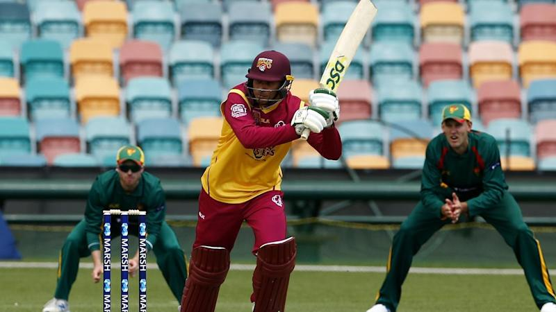 Captain Usman Khawaja's 86no has led Queensland to a four-wicket one-day cup win over Tasmania