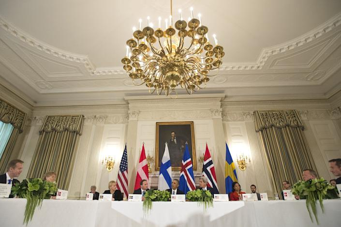 The State Dining Room (during a May 13, 2016, dinner)