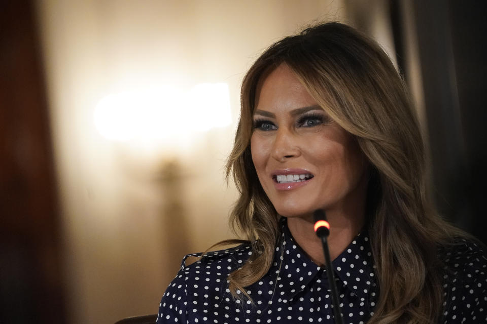 Former first lady Melania Trump is the inspiration for Jim Carrey's latest artwork. (Photo: Drew Angerer/Getty Images)