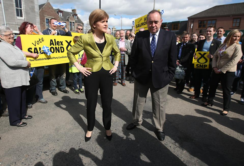 The breakdown in the relationship between Nicola Sturgeon and her predecessor Alex Salmond was laid bare just weeks before the election campaign began (Andrew Milligan/PA)