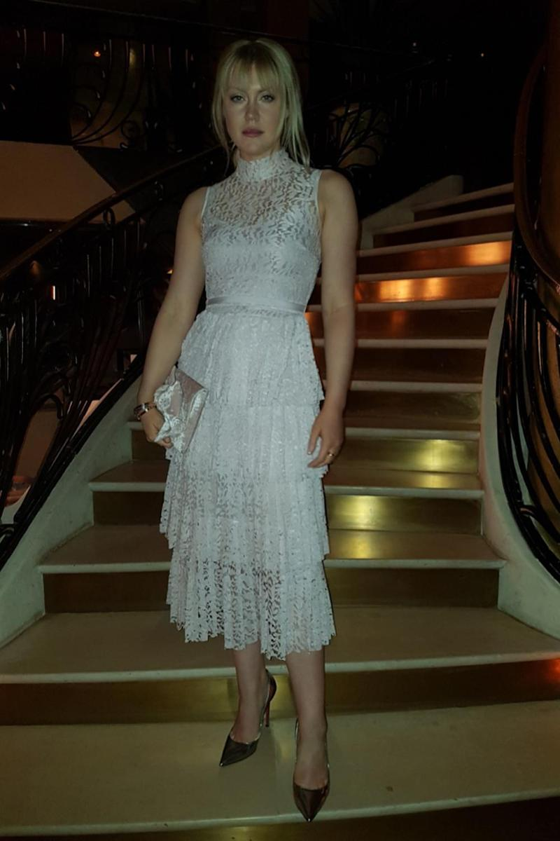 At the afterparty: Camilla changes outfits as she heads inside (Camilla Kerslake )