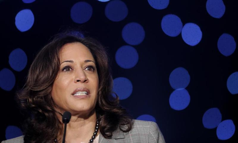 Kamala Harris says 'there is definitely a conversation to be had' about impeachment.