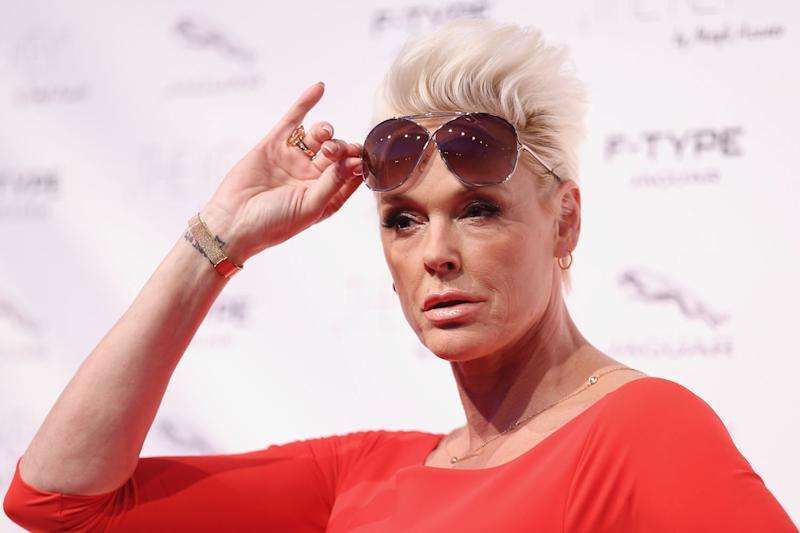 Speaking out: Brigitte Nielsen has defended ex-husband Sylvester Stallone: Getty